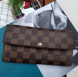 Louis Vuitton Sarah wallet damier ebene print